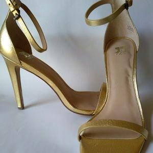 Joe's gold ankle strap dress shoes